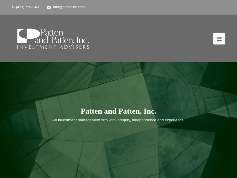 Patten and Patten, Inc. – Registered Investment Advisers in Chattanooga, Tennessee and North Georgia