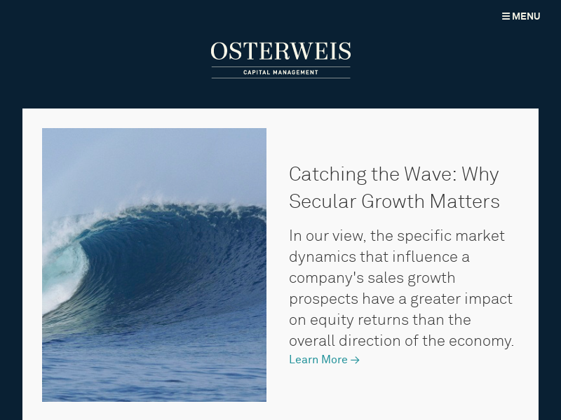 Osterweis Capital Management