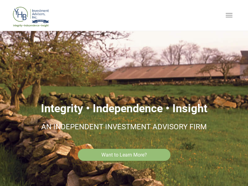 Integrity • Independence • Insight - YHB Investment Advisors, Inc.
