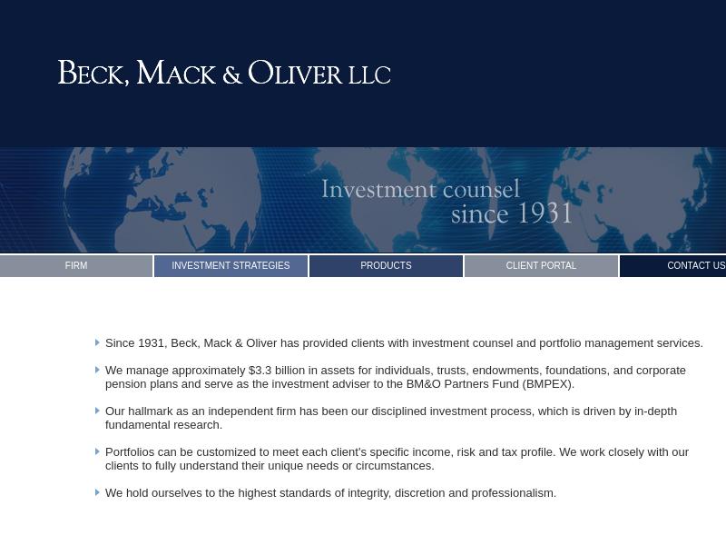 Home Page : Beck, Mack & Oliver