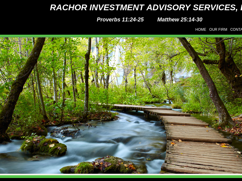 Rachor Investment Advisory Services, LLC: A professional tax and accounting firm in Flint, Michigan: Splash Page