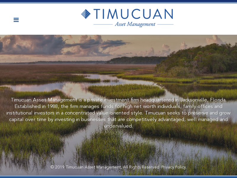 Private Investment Firm in Jacksonville, FL - Timucuan Asset Managment