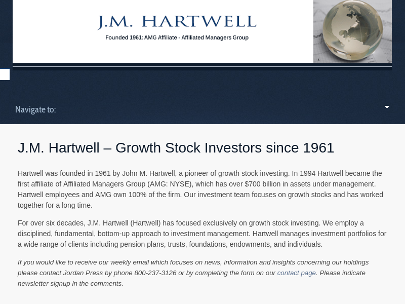 J.M. Hartwell - Growth Investors since 1961