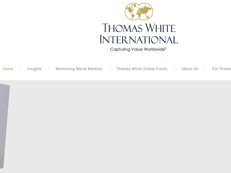 Thomas White International   Thomas White Global Investing   Capturing Value Worldwide
