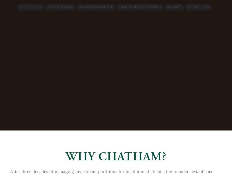 Chatham Capital Group I Customized Wealth Management