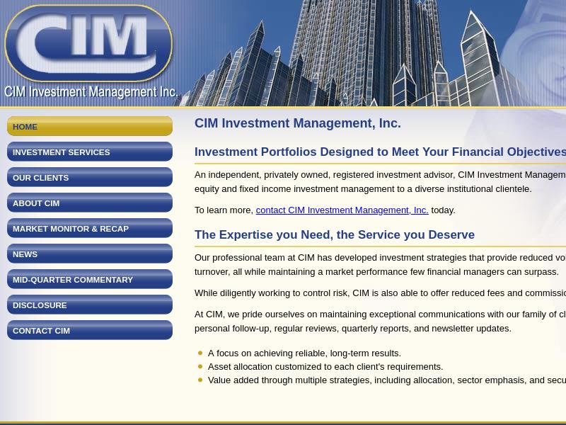CIM Investment Management, Inc.