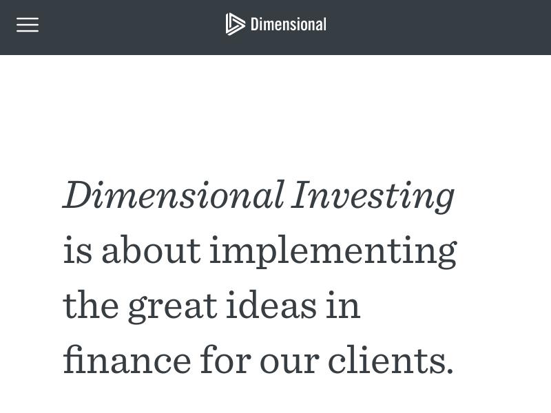 Dimensional Investing | Dimensional Fund Advisors