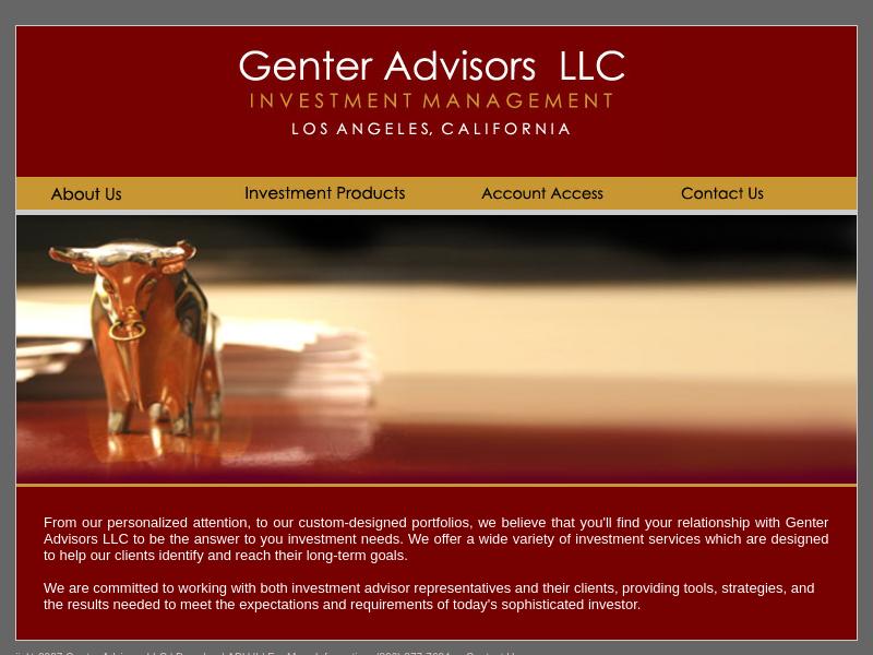 GENTER ADVISORS LLC - Welcome