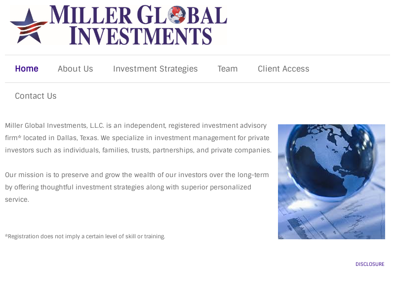 Miller Global Investments - Home