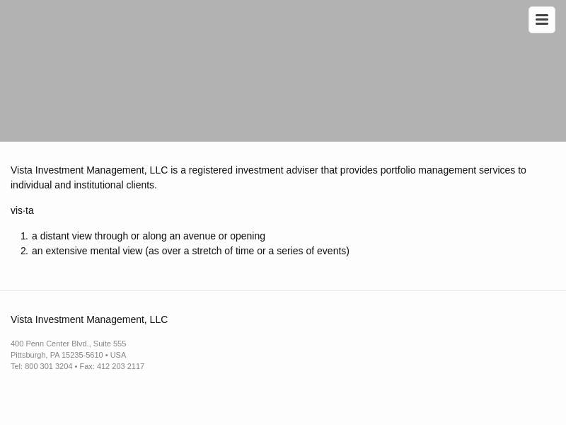 Vista Investment Management, LLC