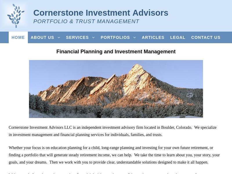 Home - Cornerstone Investment Advisors