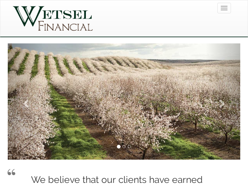 Wetsel Financial -- Home