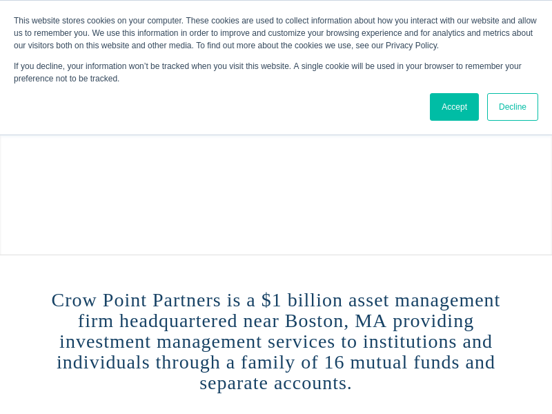Crow Point Partners » Specialty Asset Management Firm » Hingham/Boston MA