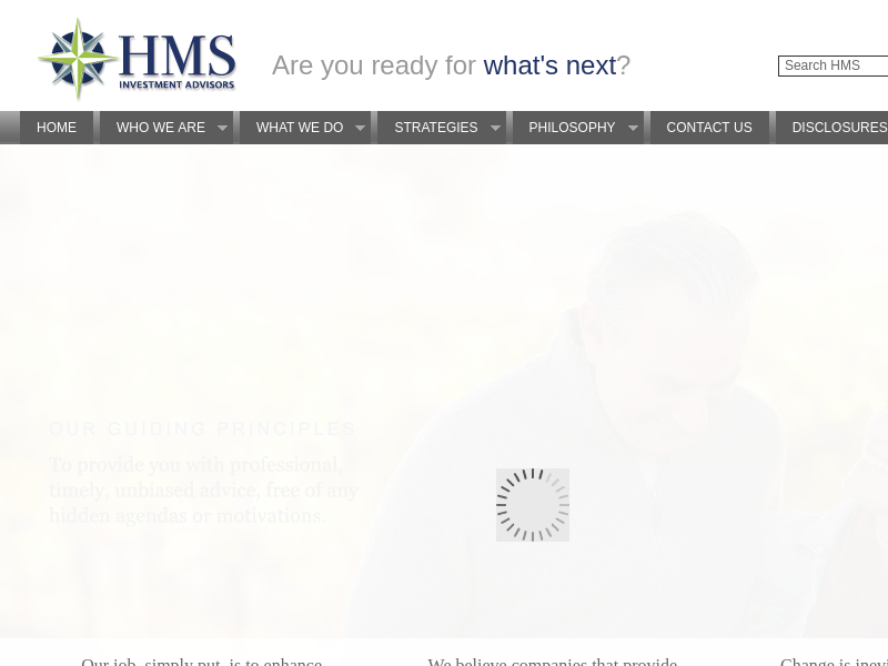 HMS Investment Advisors | Are You Ready for What's Next?
