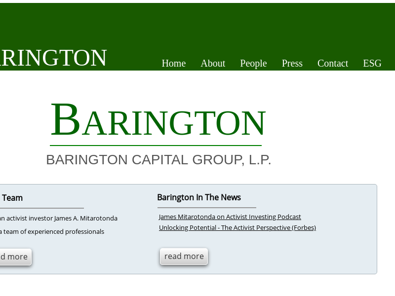 Barington Capital Home