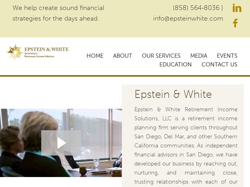 Epstein & White Retirement Income Solutions, LLC   Independent Financial Advisors