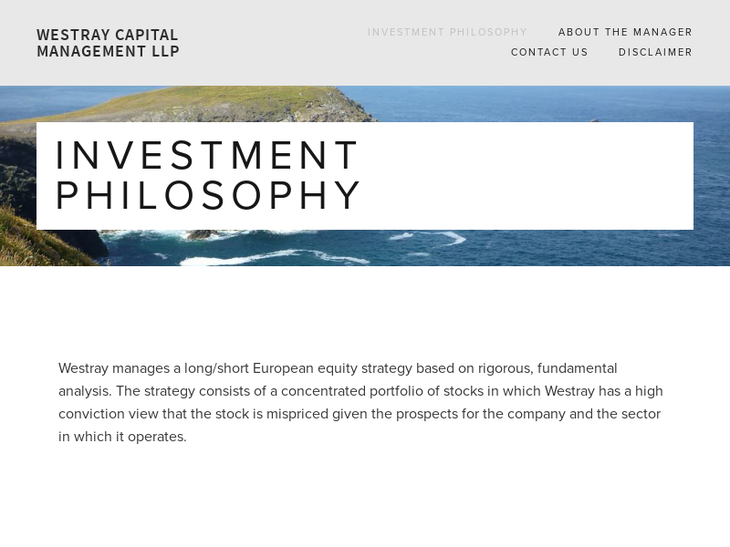 Westray Capital Management LLP