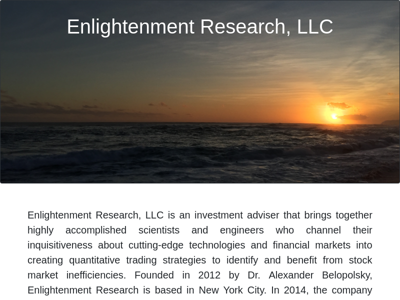 Enlightenment Research