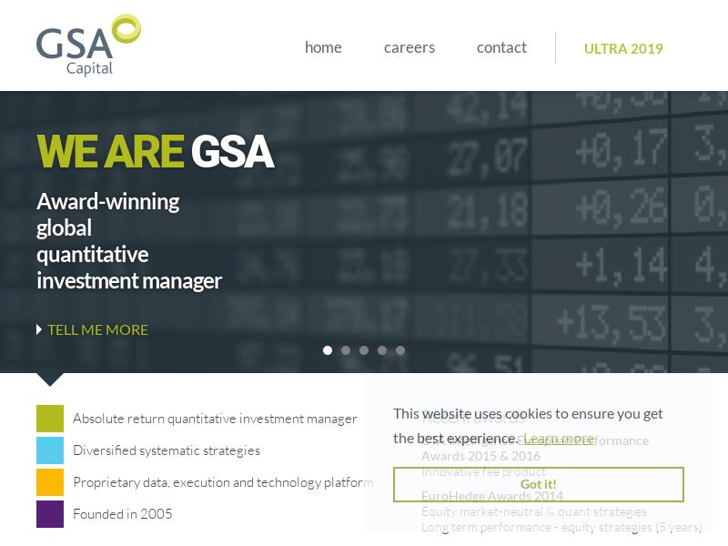 GSA Capital Partners LLP - An award winning, global, quantitative investment manager
