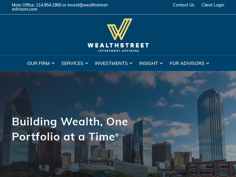Wealthstreet Investment Advisors | Wealth management and 401(k) services