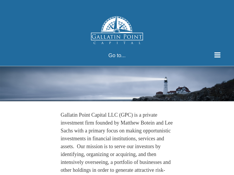 Experienced, Collaborative Investment Partners | Gallatin Point Capital