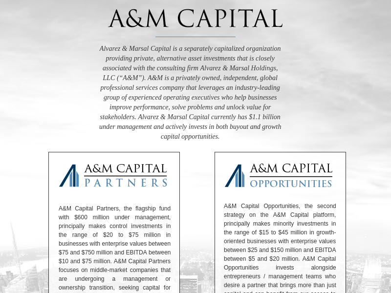 A&M CAPITAL PARTNERS