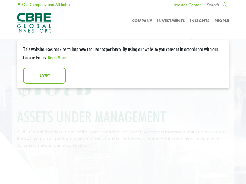 Real Estate and Infrastructure Investment Manager - Homepage
