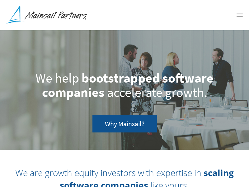 Mainsail Partners   Growth Equity for Bootstrapped Software Companies