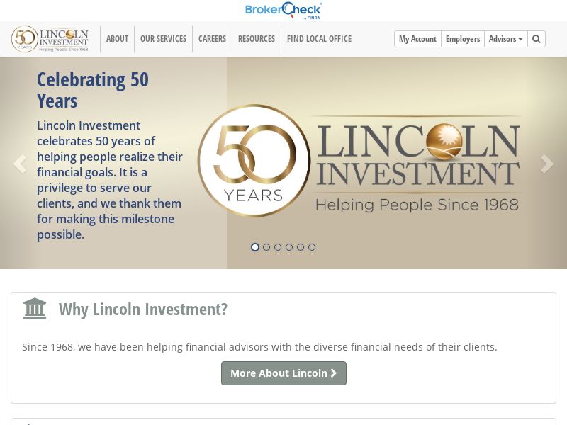 Lincoln Investment - Home