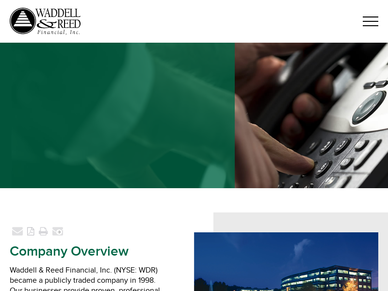 Corporate Profile    Waddell & Reed Financial Inc.