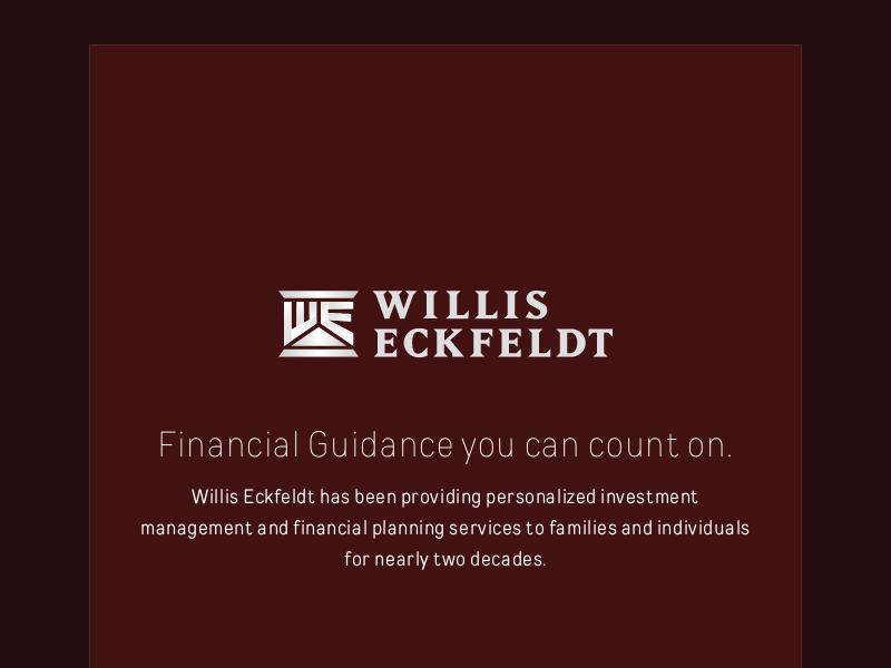 Willis Eckfeldt   Seattle Wealth Management and Financial Planning.
