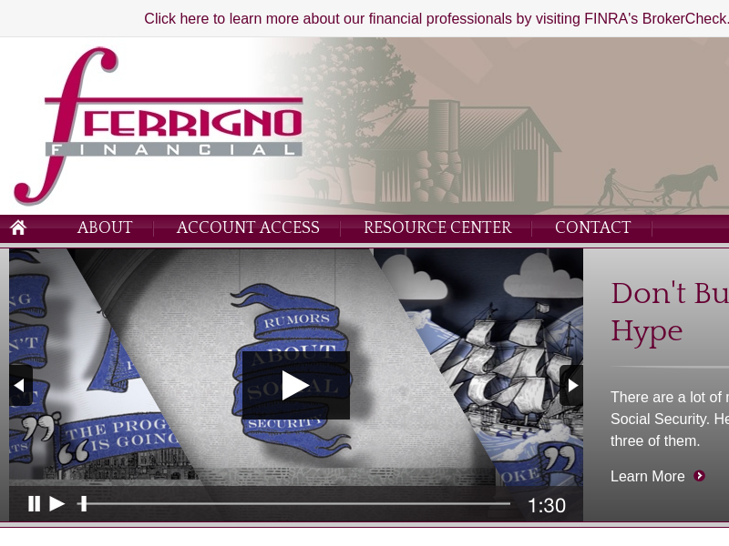 Home | Ferrigno Financial | Washingtonville, NY | Financial Planner