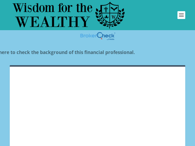 Home | Wisdom For The Wealthy