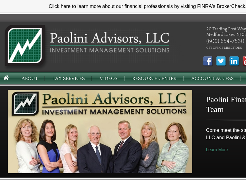 Home | Paolini Advisors, LLC - Medford Lakes, NJ