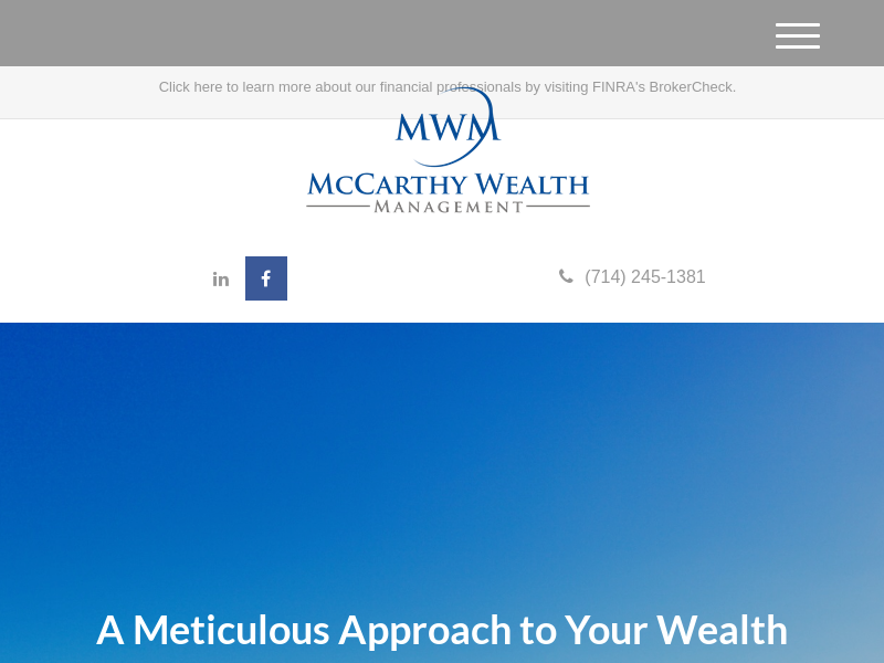 McCarthy Wealth Management|Orange County Financial Planning|Investment Managment|Retirement Planning