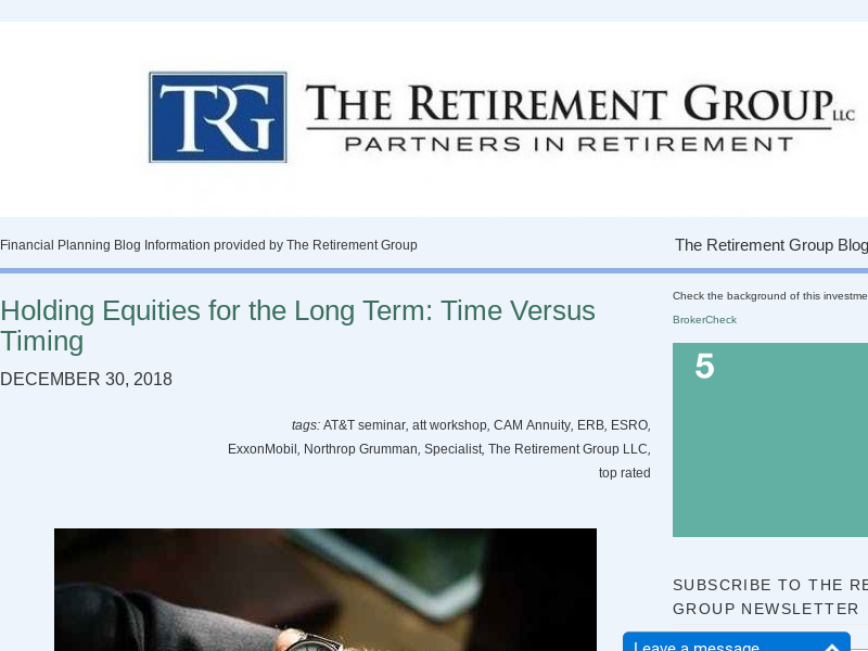 | Financial Planning Blog Information provided by The Retirement Group