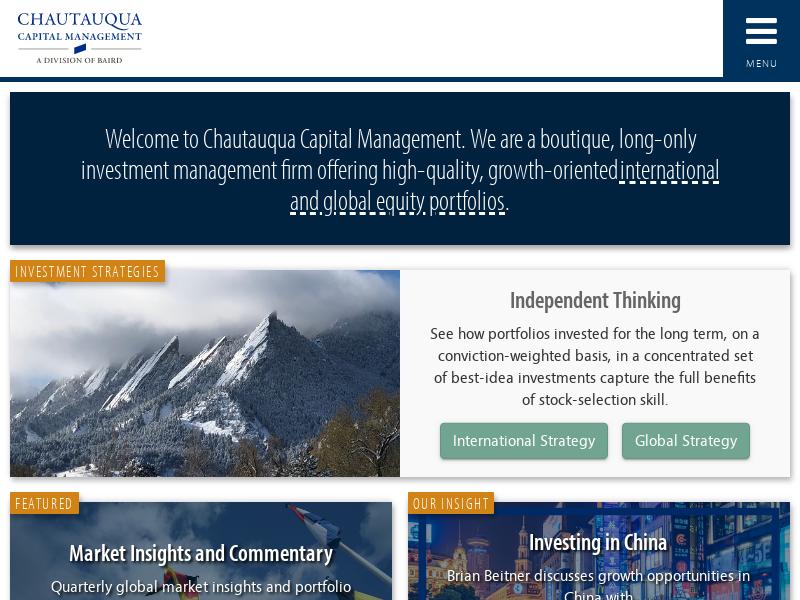 Chautauqua Capital Management | Baird