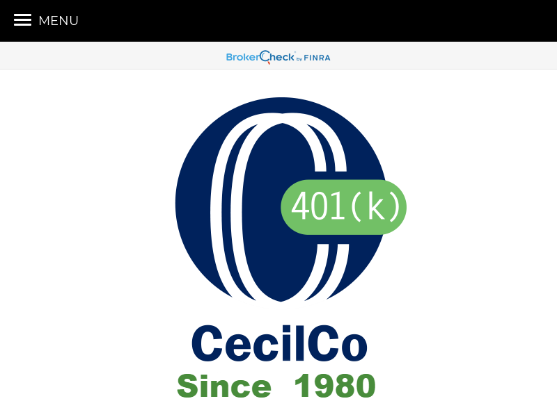 Home | CecilCo 401(k) Managed Solutions