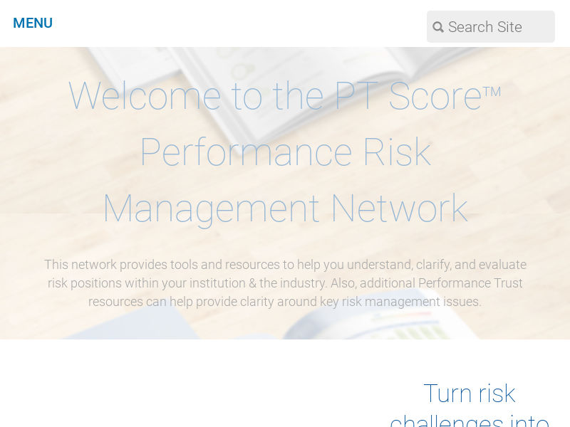 Performance Risk Management Network | Performance Trust Capital Partners