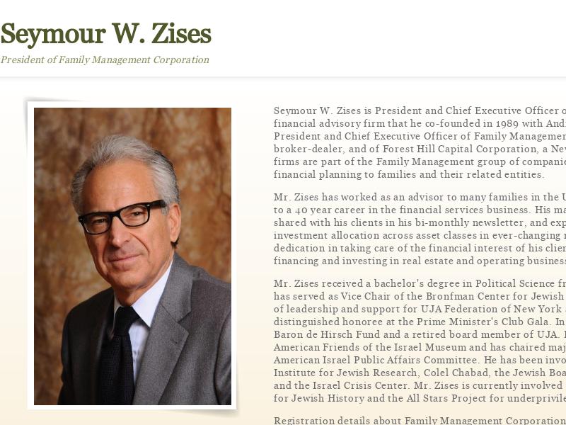 Seymour W. Zises | Family Manage Corporation