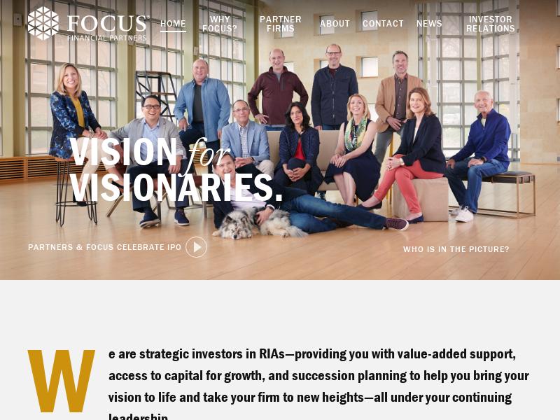 Focus Financial Partners   RIA Investors