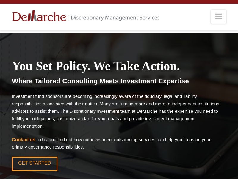 DeMarche | Discretionary Services – Where Tailored Consulting Meets Investment Expertise