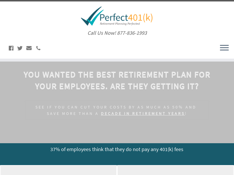 Perfect401(k) – Call Us Now! 877-836-1993