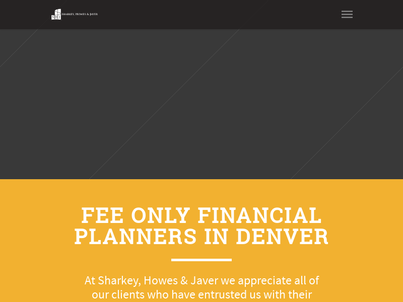 Fee Only Financial Planning & Investing | Sharkey, Howes & Javer | Denver, CO.