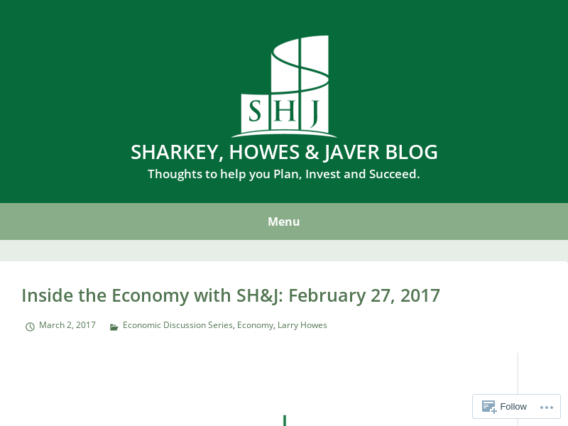 Sharkey, Howes & Javer Blog | Thoughts to help you Plan, Invest and Succeed.