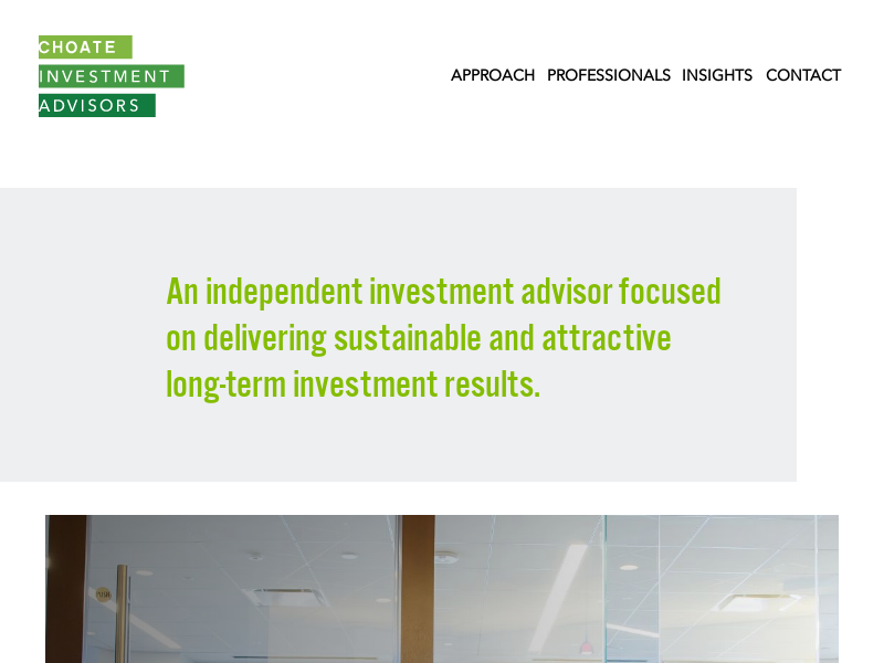 Homepage | Choate Investment Advisors