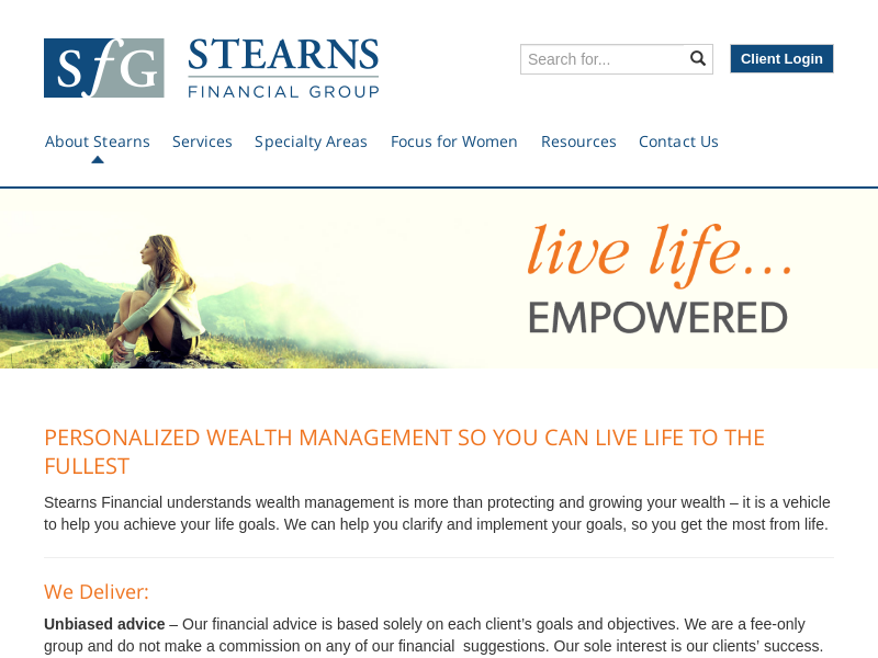Stearns Financial Group | Focus for Women