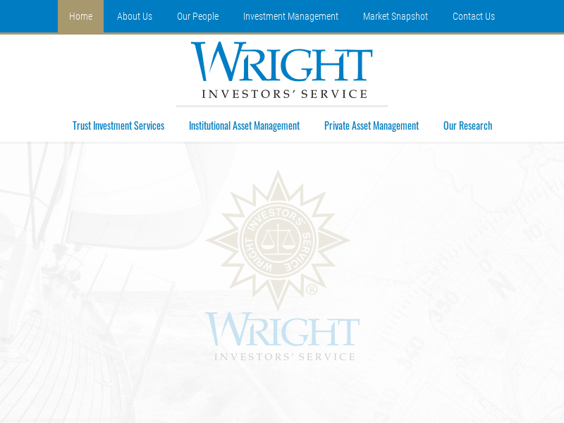 "Wright Investors' Service - ""Quality Counts"""