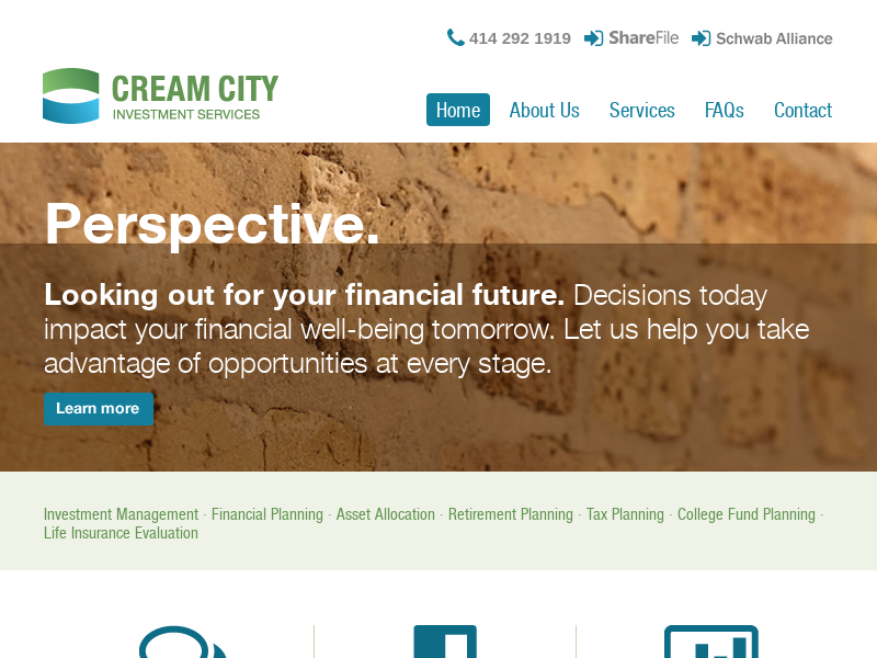 Cream City Investment Services | Financial Planning | Investment Management | Retirement Planning | Tax Planning | College Funding Planning | Milwaukee, WI » Home