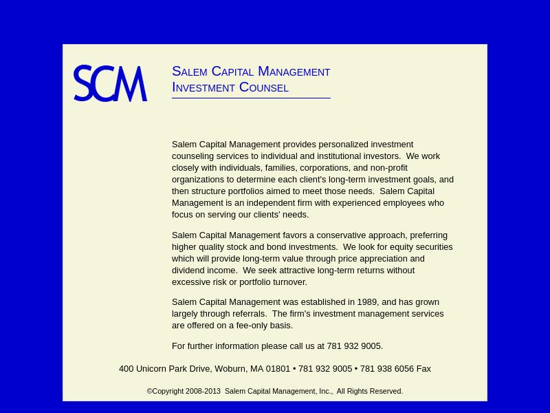 Salem Capital Management